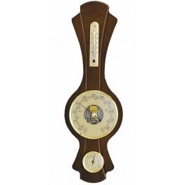 Barometr s teploměrem a vlhkoměrem na dřevěné podložce B203260