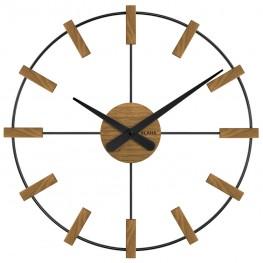 Dřevěné černé hodiny VLAHA STUDIO vyrobené v Čechách VCT1062