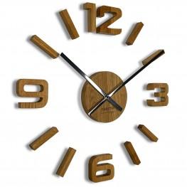 Flexistyle z54g - dubové nalepovací hodiny s průměrem 50-75 cm