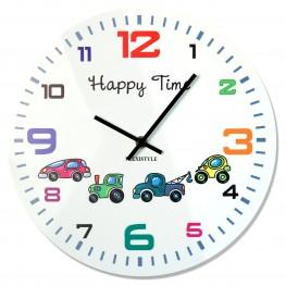 Flexistyle z93c - dětské skleněné hodiny s auty