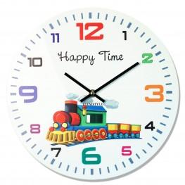 Flexistyle z93b - dětské skleněné hodiny s vláčkem
