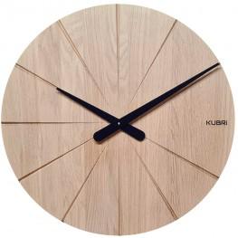 KUBRi 0092 - dubové hodiny české výroby o průměru 44 cm
