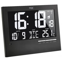 Rádiem řízené nástěnné hodiny s automatickým podsvícením - TFA 60.4508