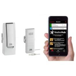 Bezdrátový monitor klimatu TFA 31.4004.02 WEATHERHUB - startovní balíček č. 4
