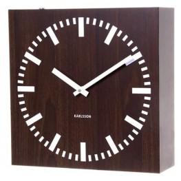 Oboustranné hodiny Karlsson 5529 wenge 30cm