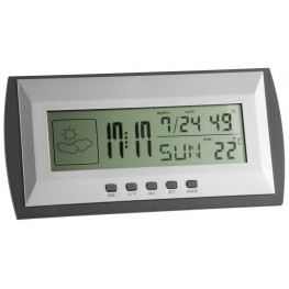 Teploměr s vlhkoměrem a hodinami TFA 35.1065