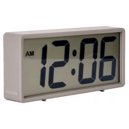 Digitální stolní i nástěnné hodiny/budík Karlsson 5646GY 18cm