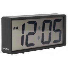 Digitální stolní i nástěnné hodiny/budík Karlsson 5646BK 18cm