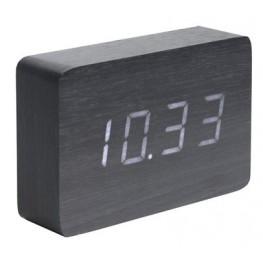LED budík - hodiny Karlsson 5653BK 15cm