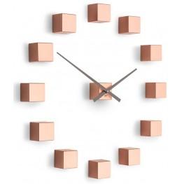 Designové nástěnné nalepovací hodiny Future Time FT3000CO Cubic copper