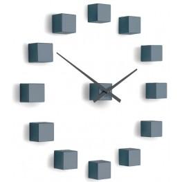 Designové nástěnné nalepovací hodiny Future Time FT3000GY Cubic grey