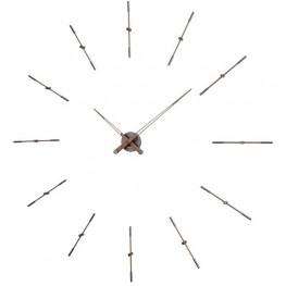 Designové nástěnné hodiny Nomon Merlin Walnut Graphite METP120N 125cm