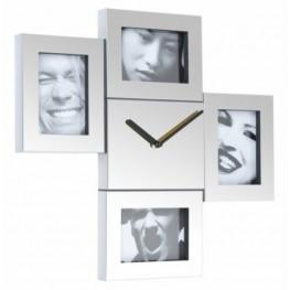 Fisura nástěnné hodiny Steel Photo Frames 972 C22S4S 43cm