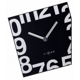 Fisura nástěnné hodiny Esquina Black 357 WJ02BK 21cm