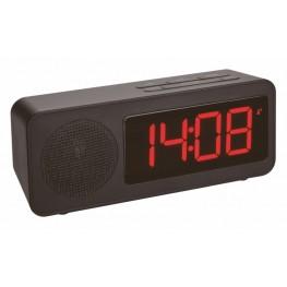 Budík s rádiem, DCF časem a USB výstupem pro dobíjení mobilních zařízení TFA 60.2546.01
