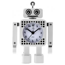 Dětský budík JVD robot bílý SRP2304.2